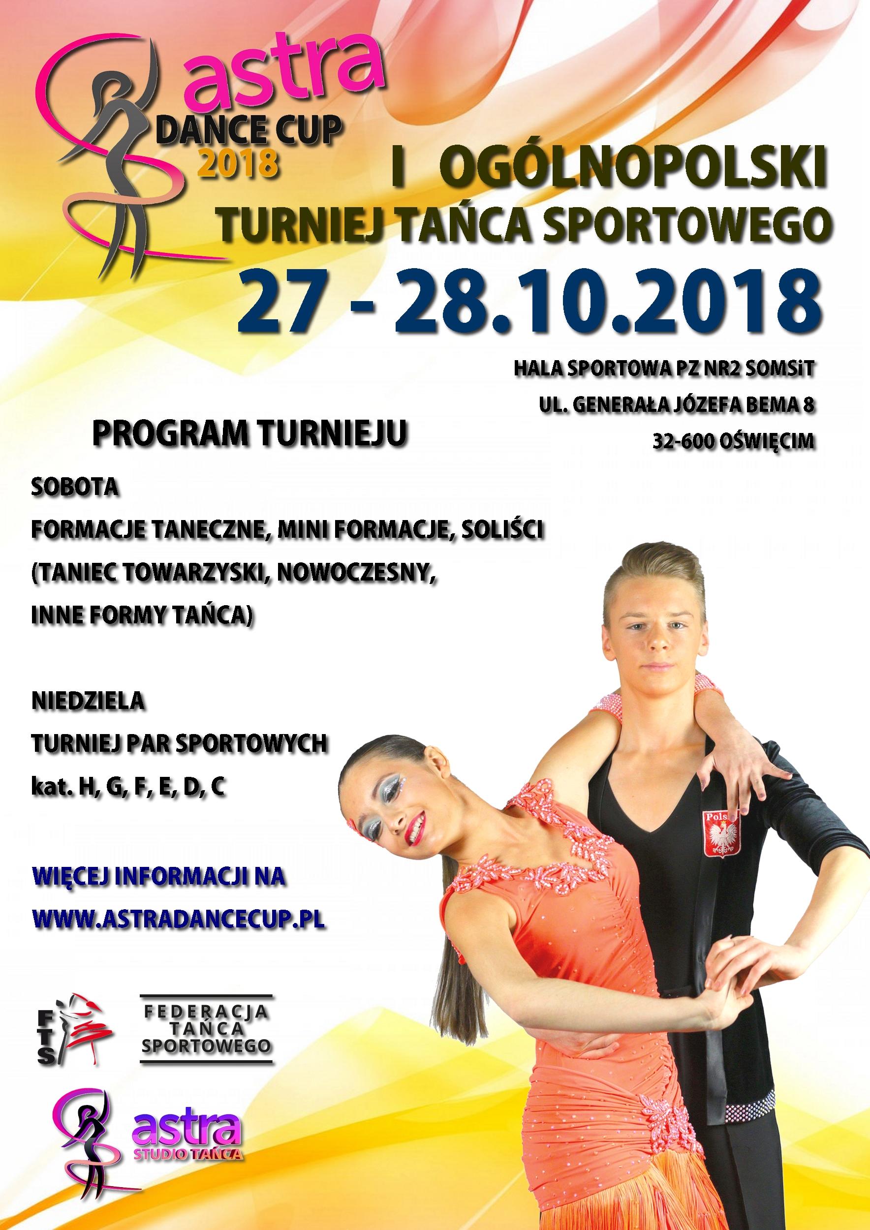 I Ogólnopolski Turniej Tańca Sportowego Astra Dance Cup 2018