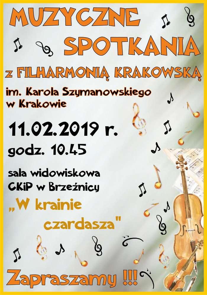 """,,W krainie czardasza"""" – Muzyczne Spotkanie z Filharmonią Krakowską w Brzeźnicy"""