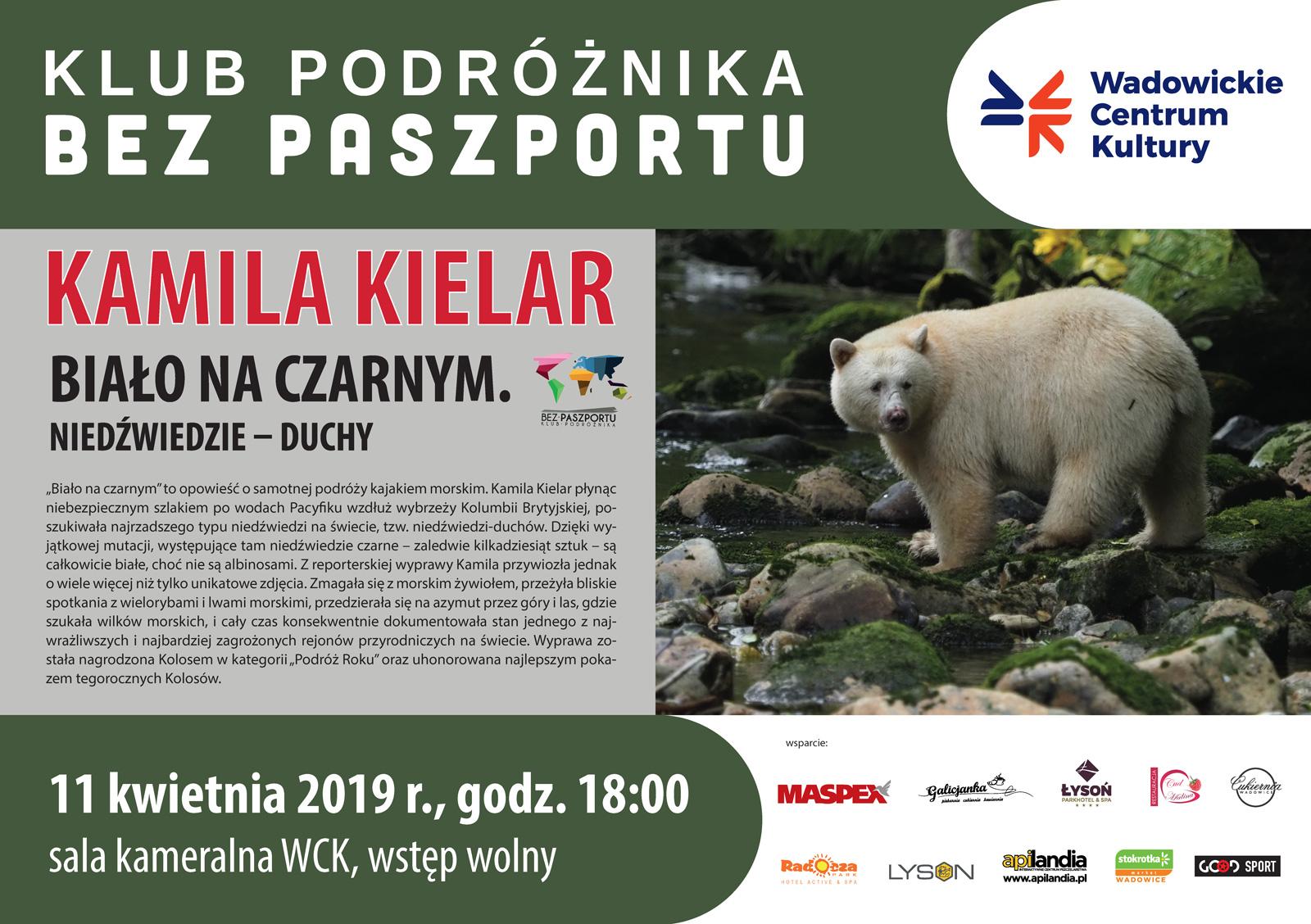 """Kamila Kielar """"Biało na czarnym. Niedźwiedzie – duchy"""""""