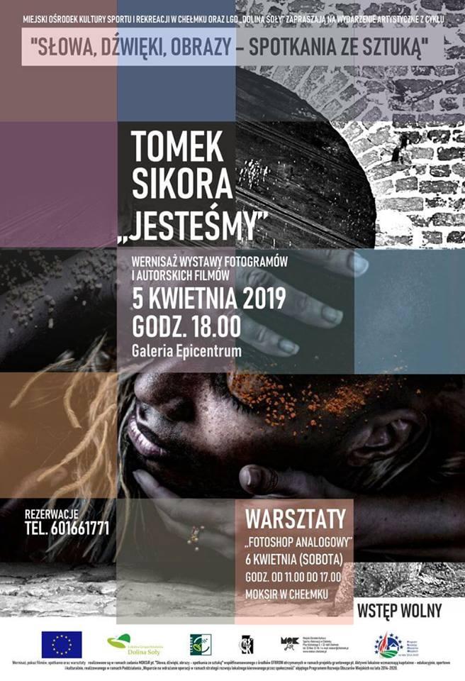 """TOMEK SIKORA – Wernisaż wystawy fotogramów """"Jesteśmy"""" oraz projekcja autorskich filmów."""