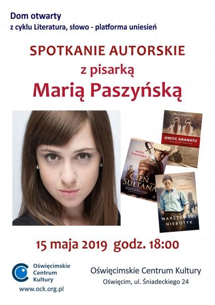 Spotkanie autorskie z pisarką Marią Paszyńską