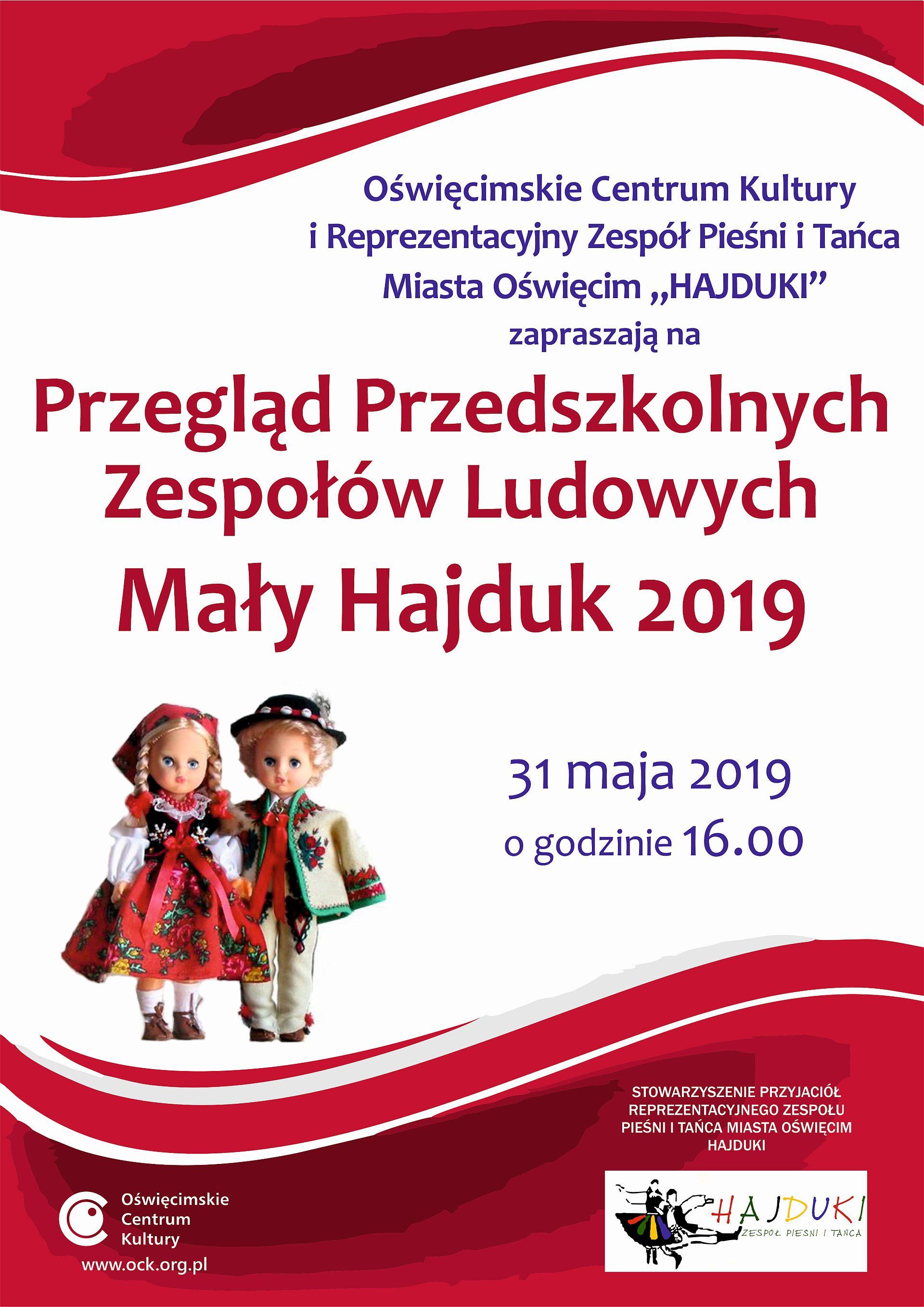 """,,Mały Hajduk"""" – Przegląd Przedszkolnych Zespołów Ludowych w Oświęcimskie Centrum Kultury"""