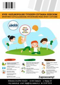 """Akcja ,,Sportowcy czytają dzieciom."""" w Miejskiej Bibliotece Publicznej w Oświęcimiu"""