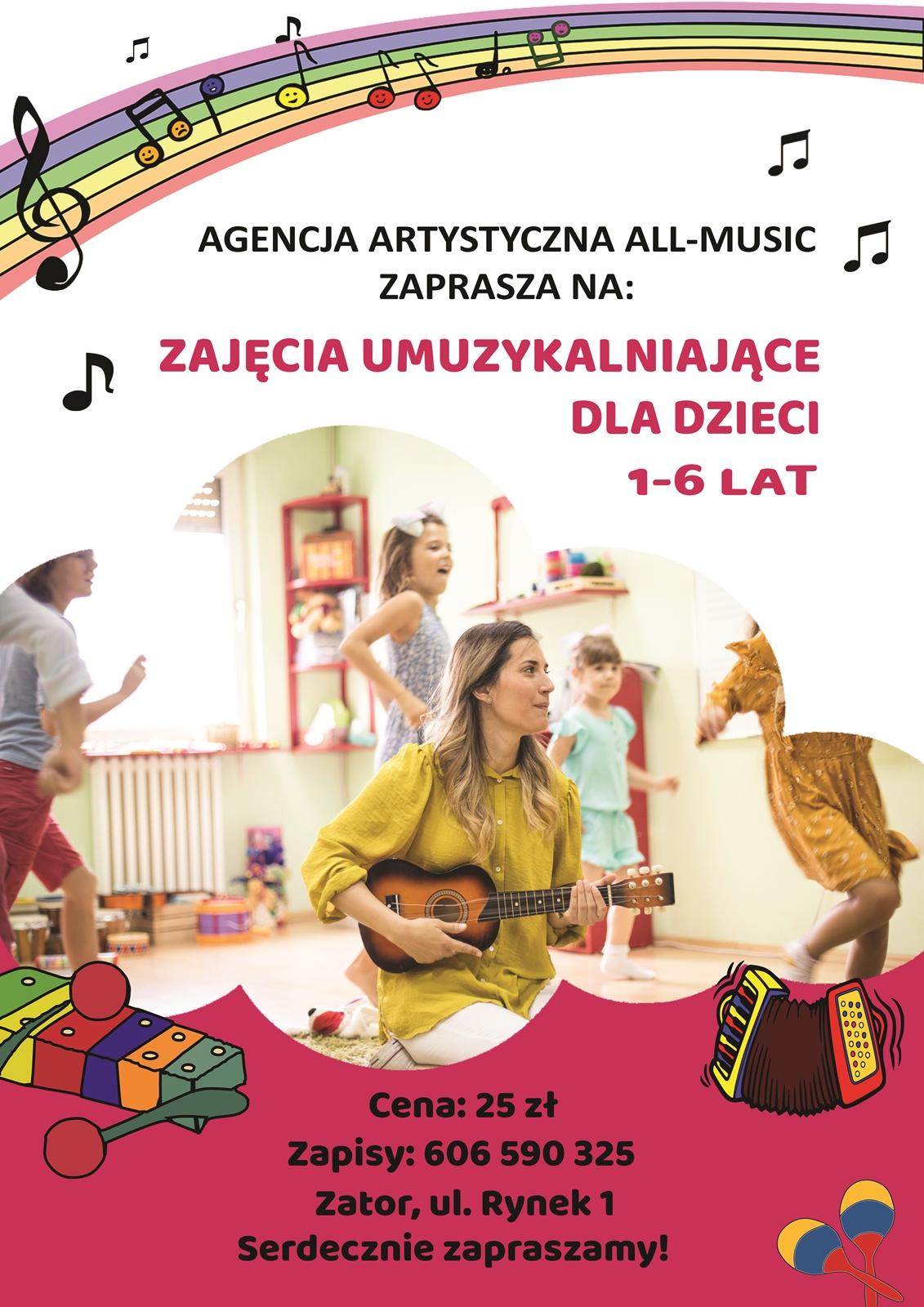 All-Music – zajęcia umuzykalniające dla dzieci 1-6 lat